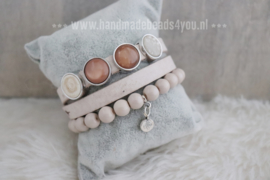 CUOIO ARMBAND | BEIGE