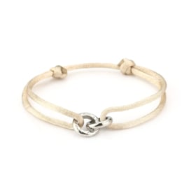 ARMBAND 'CONNECTING CIRCLES'   BEIGE