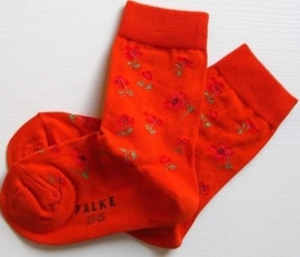 Little Flower sokken - Coral - Falke fantasiekousen, maat 23-26
