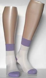 Stella - off-white - glanzende kousen Falke, maat 35-38