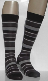 Fashion Stripe - black - kniekousen Falke, maat 35-38