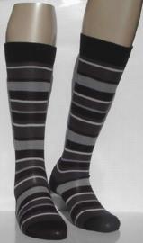 Fashion Stripe - black - kniekousen Falke, maat 35-38