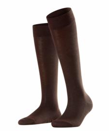 Family Knee - d.brown - katoenen kniekousen Falke, maat 39-42 (dames en tieners)