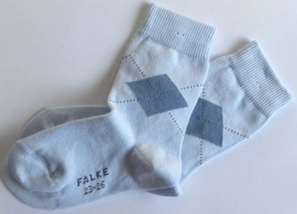 New Argyle - powder blue - Falke fantasiekousen, maat 19-22