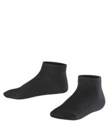 Sneaker Family Short - black - zwarte, korte Falke sokjes, maat 39-42 (dames en tieners)
