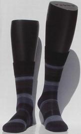 Block Stripe - navy - ultrafijne Falke kousen voor heren, maat 43-44