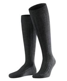 Teppich im Schuh - anthracite - kniekousen voor heren, Falke, maat 47-48