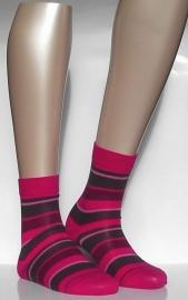 Fashion Stripe - Peony - Falke kousen, maat 31-34