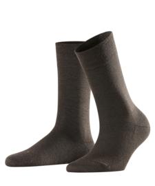 Berlin - brown - bruine Falke kousen zonder elastiek, speciaal voor de bloedsomloop, maat 39-42 (dames)