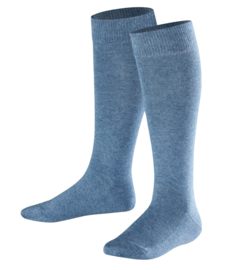 Family Knee - denim - jeansblauwe, katoenen kniekousen Falke, maat 27-30