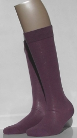 Family Knee - dusty purple - katoenen kniekousen Falke, maat 39-42 (dames en tieners)