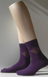 New Argyle - blue berry - Falke fantasiekousen, maat 23-26