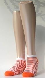 Sneaker Bicolor - orange - korte Falke sokjes, maat 35-38