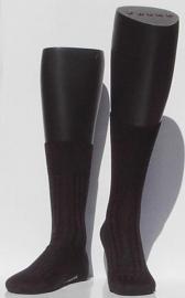 Bristol 80 - d.grey - donkergrijze Falke kousen met ribpatroon, maat 41-42