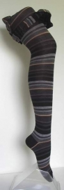 New Stripe - black - broekkousen Falke
