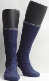 Boot sock - marine - dikke, warme kousen Falke, maat 35-38