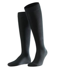Family Knee - black - zwarte, katoenen kniekousen Falke, maat 39-42 (heren)