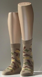 Camouflage - beige - fantasiesokken Falke, maat 27-30