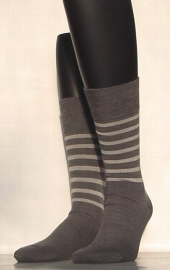 Bicolor - d.grey - Falke kousen voor heren, maat 39-42