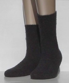 Tender - dark grey - superzachte en warme kousen Falke, maat 35-38