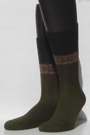 Winter Pattern - metallic - dikke, khaki wintersokken Falke, maat 43-46