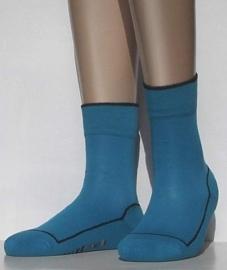 2 Friends - turquoise - voordeelpakje van 2 paar Falke kousen met comfortzool, maat 27-30