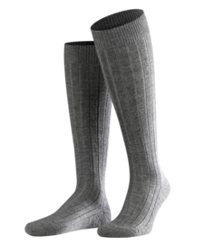 Teppich im Schuh - d.grey - kniekousen voor heren, Falke, maat 39-40