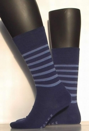 Bicolor - indigo - Falke kousen voor heren, maat 43-46