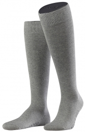 Family Knee - l.grey - katoenen kniekousen Falke, maat 39-42 (heren)