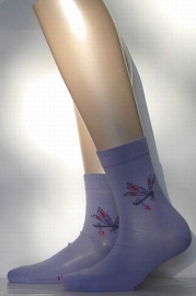 Dragonfly - lavendar - fantasiesokken Falke, maat 27-30