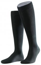 Family Knee - black - zwarte, katoenen kniekousen Falke, maat 47-50