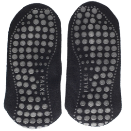 Homepads - black - zwarte anti-slip kousen Falke, maat 43-46