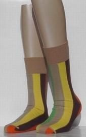 Multistripe - beige - fantasiesokken Falke, maat 43-46
