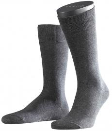 Family - d.grey - donkergrijze , katoenen Falke kousen, maat 47-50