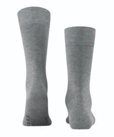 Family - l.grey- grijze, katoenen Falke kousen, maat 39-42 (heren)