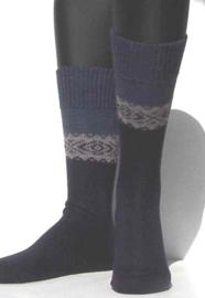 Winter Pattern - marine - dikke, donkerblauwe wintersokken Falke, maat 43-46