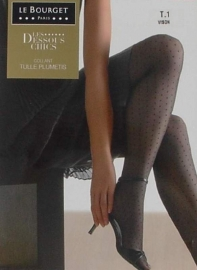 Plumetis - zwarte fantasiekousen, panty's Le Bourget