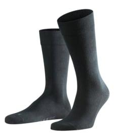 London - black - zwarte Falke kousen zonder elastiek, speciaal voor de bloedsomloop, maat 39-42 (heren)