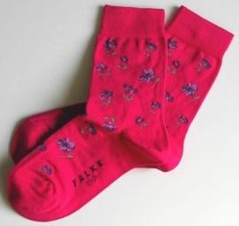 Little Flower sokken - Cyclame - Falke fantasiekousen, maat 19-22