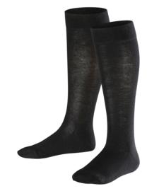 Family Knee - black - zwarte, katoenen kniekousen Falke, maat 39-42 (dames en tieners)