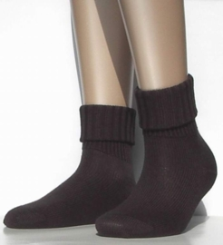 Striggings Rib - dark brown - warme kousen Falke, maat 35-38