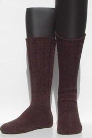 Bootsocks - d.brown - dikke wintersokken Falke (dames en heren), maat 39-42