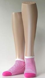 Sneaker Bicolor - fuchsia - korte Falke sokjes, maat 35-38