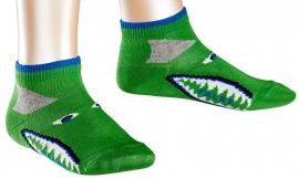 Sneaker Shark - rugby green - korte Falke sokjes, maat 27-30