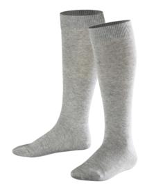 Family Knee - l.grey - grijze, katoenen kniekousen Falke, maat 39-42 (dames en tieners)