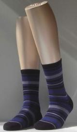 Multicolor Stripe - marine - kousen Falke, maat 35-38