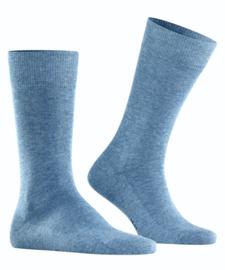 Family - l.denim - jeansblauwe, katoenen Falke kousen, maat 43-46