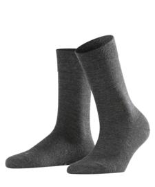 Berlin - anthracite - grijze Falke kousen zonder elastiek, speciaal voor de bloedsomloop, maat 39-42 (dames)