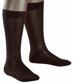 Family Knee - d.brown - katoenen kniekousen Falke, maat 35-38