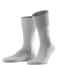 Run - l.grey - Falke kousen met pluchen comfortzool, maat 39-41 (dames en heren)